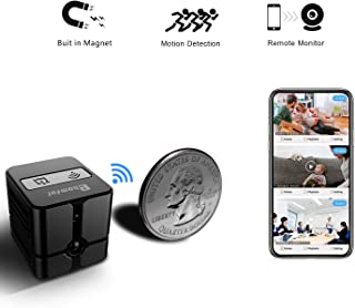 Spy Camera Wireless Hidden Camera Cop Spy Cam, Ehomful WiFi Mini Body Camera Portable Home Security Cameras Covert Small Nanny Cam with App 1080P Night Vision Motion Activated Indoor and Outdoor