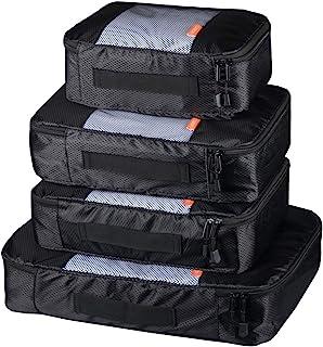 Coolzon® Packing Cubes Bolsa de Almacenamiento de Viaje Organizador Equipaje Organizador de Compresión Zapatos Set de 4 Pa...