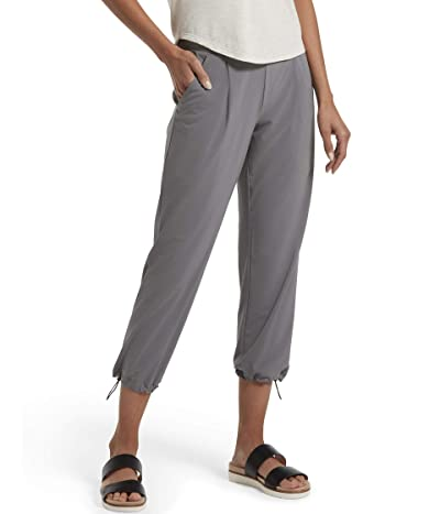 HUE Travel Lightweight Adjustable Hem Cropped Pant (Steel) Women