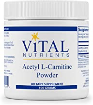 Vital Nutrients - Acetyl L-Carnitine Powder - Supports Normal Brain Function and Memory - Vegetarian - 100 Grams - 3000 mg