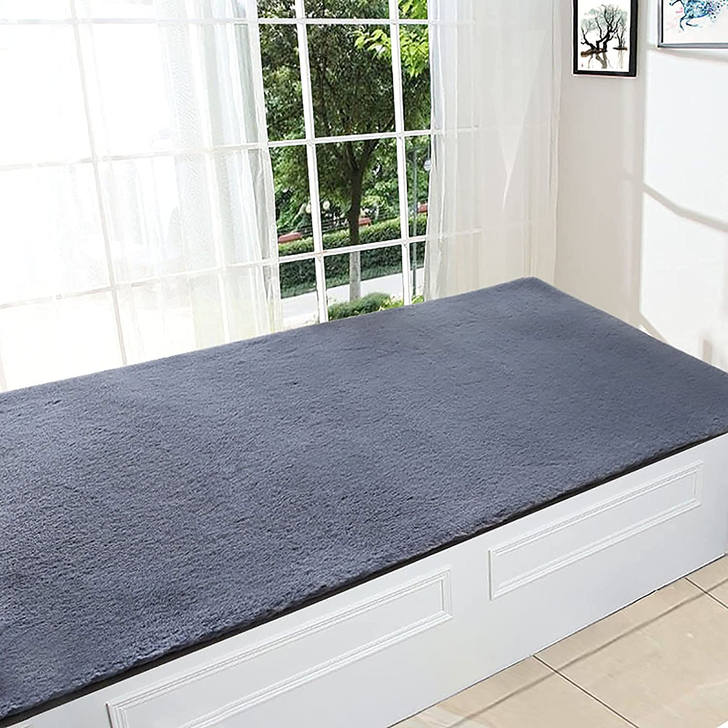 CJCSM Oakland Mall Area Rug Plush Bay Non-S Cushion Sill In a popularity Long Window