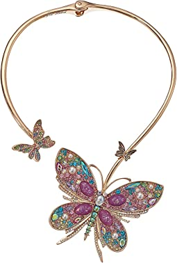 Betsey Johnson - Butterfly Hinge Collar Necklace