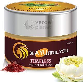 Jammi Ayurveda Timeless - Anti-aging Revitalizing Night Cream with Ashwagandha, Manjistha, Saffron, Sandalwood, Lotus Stam...