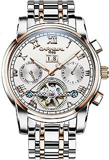 CARNIVAL(カーニバル) 8759G メンズ 機械式 アナログ腕時計 (ホワイト/ローズゴールド) [並行輸入品]
