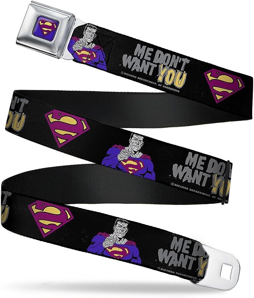 Buckle-Down Boys Seatbelt Belt Bizarro Superman Wsm030