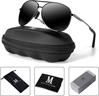 mxnx Aviator Sunglasses for Men Polarized Women UV Protection Lightweight Driving Fishing Sports...