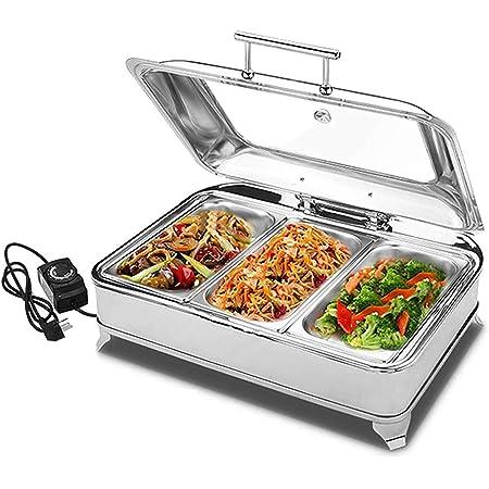 ZXLYA Chafing Dish En Acier Inoxydable, 9L Buffets Chauffants Chafing Dish Chauffe-Plat, Pour Buffets, Traiteurs, Réceptions, Et Environnements En Libre-Service