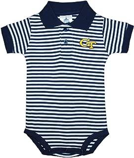 Georgia Tech Yellow Jackets Newborn Infant Baby Striped Polo Bodysuit