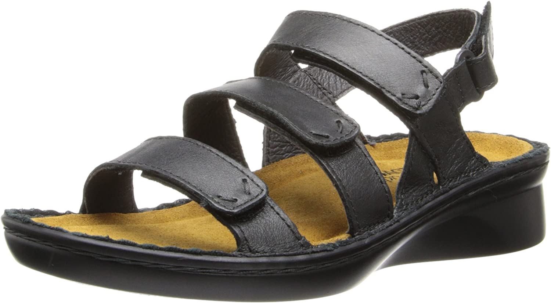 Naot Women's Jive Flat,Shiny Black Leather