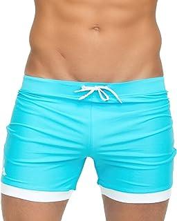 Taddlee Men Swimwear Solid Basic Long Swim Boxer Trunks Board Shorts Swimsuits (XL)