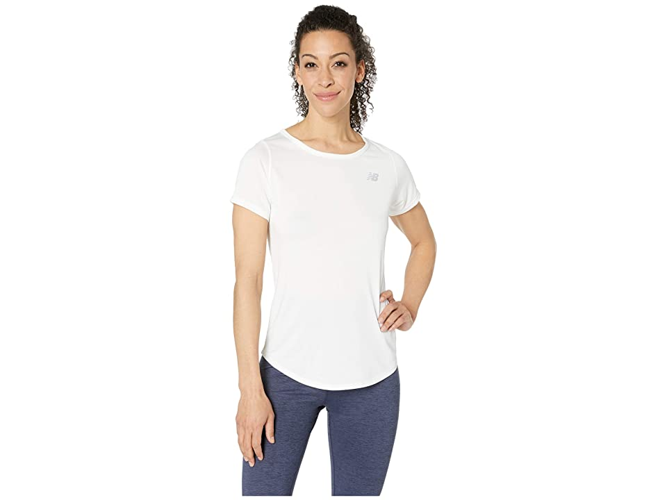 New Balance Accelerate Short Sleeve Top v2 (White) Women