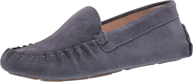 Details about  /Women/'s Cole Haan navy suede driver slip on moccasins fleece lining 7.5