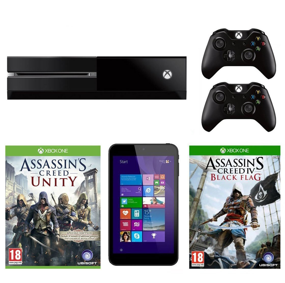 Xbox One Console With Assassins Creed Unity With Linx 7-Inch ...
