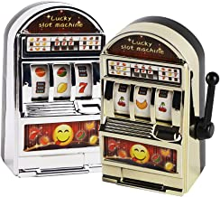 BigOtters Slot Machine Toy, 2PCS Mini Casino Lucky Lottery Game Machine Bars and Sevens Slot Machine Bank with Spinning Re...