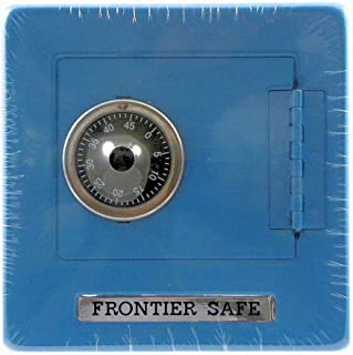 Frontier Safe - Metal Bank with Combination Lock - Medium Blue