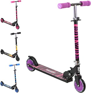 Bopster 2 Wheeled Folding Scooter - Purple Zebra Stripes