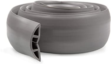 2 Meter Cable Protector + Cord Cover - Durable Gray PVC is Flexible, Odor Free, Easy to Unroll and Open - Conceal Wires at...