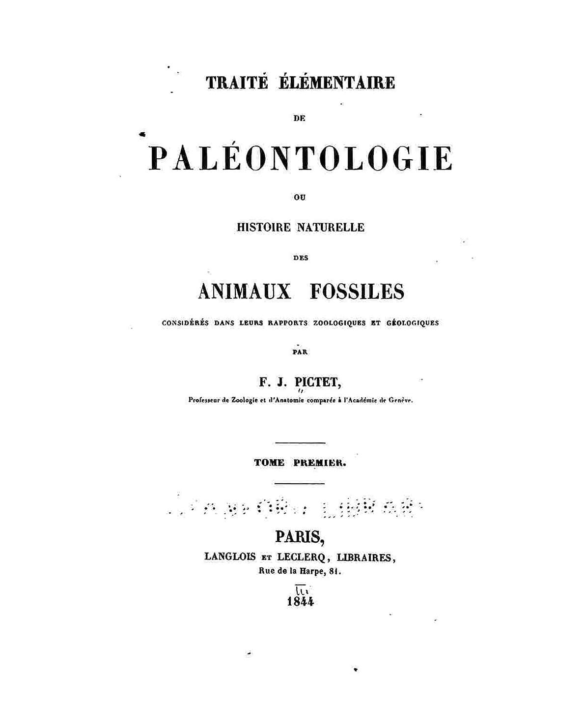 器官カップル見る人Traite? e?le?mentaire de pale?ontologie, ou, Histoire naturelle des animaux fossiles (French Edition)