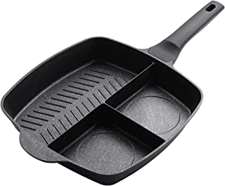 Stekpanna 3-i-1 non stick stekpanna crepe maker panna matlagning wok kruka koreansk köksredskap frukost äggpanna stekpanna...