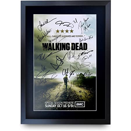 Andrew Lincoln Pre signed BW The Walking Dead cast photo print poster