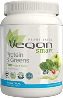 Vegansmart Plant Based Vegan Protein Powder by Naturade, All-In-One Nutritional Shake – Protein & Greens Vanilla Crème 22.8 oz