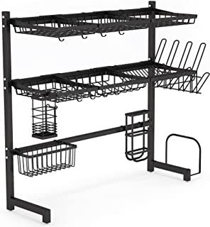 Over The Sink Dish Drying Rack -1Easylife 3 Tier Stainless Steel Large Kitchen Rack Dish Drainers for Home Kitchen Counter...