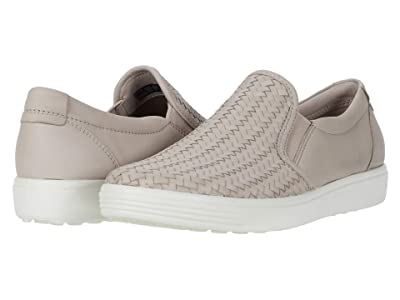 ECCO Soft 7 Woven Slip-On II (Grey Rose Cow Leather) Women