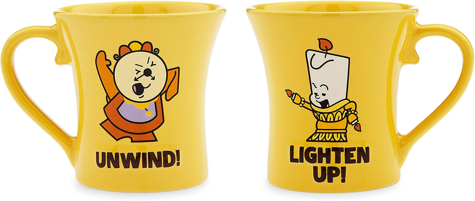 Disney Cogsworth And Lumiere Mug Set Beauty And The Beast