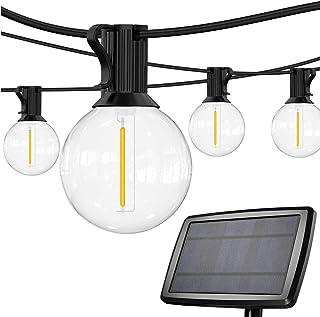 چراغ های رشته ای خورشیدی SUNTHIN در فضای باز 48 تایی چراغ های رشته ای پاسیو خورشیدی با 24 لامپ LED ضد آب G40 ، رشته چراغ های خورشیدی ضد آب برای پاسیو ، حیاط خلوت ، باغ ، کمپینگ ، مهمانی در فضای باز