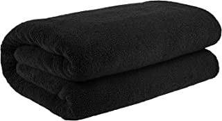 40x80 Inches Jumbo Size, Thick and Large 650 GSM Bath Sheet Cotton, Luxury Hotel & Spa Quality, Absorbent and Soft Decorative Kitchen and Bathroom Turkish Towels, Coal Black