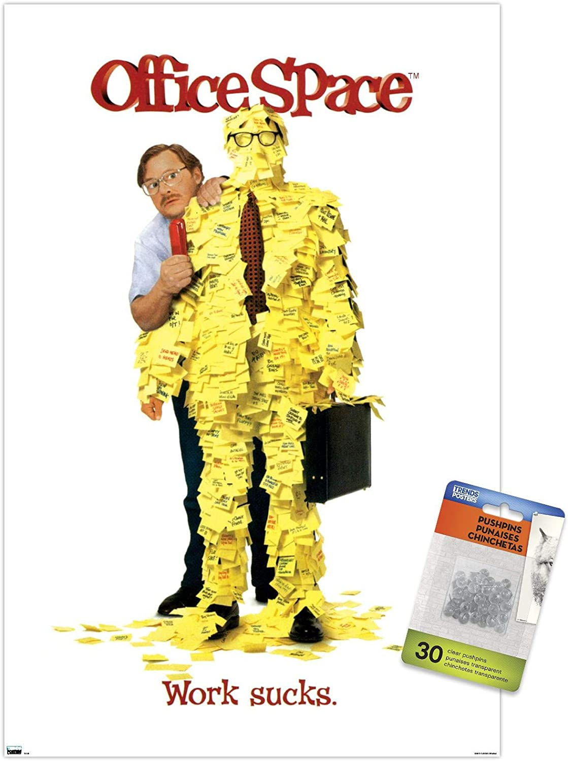 Office Space - One 35% OFF Sheet Wall Push Poster 2021 with Pins