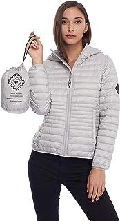 Women's Vegan Down Lightweight Packable Puffer Jacket & Bag