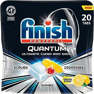 Finish Quantum Max Ultra-Degreaser w. Lemon, 160ct, Dishwasher Detergent Tablets (8X20ct)