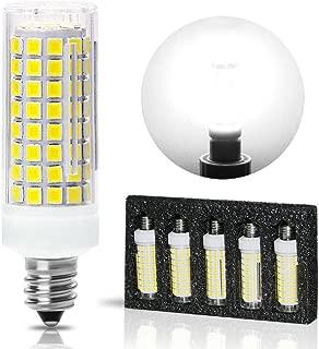 All-New-(102LEDs) E11 Led Bulbs, 80W or 100W Equivalent Halogen Replacement Lights, Dimmable, Mini Candelabra Base, 850 Lumens Daylight White 6000K, AC110V/ 120V/ 130V,Pack of 5