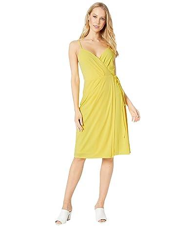 BCBGeneration Cocktail Faux Wrap Knit Dress (Lemonade) Women
