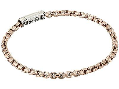 John Hardy Classic Chain 4 mm. Bracelet on Bronze Box Chain (Silver/Bronze) Bracelet