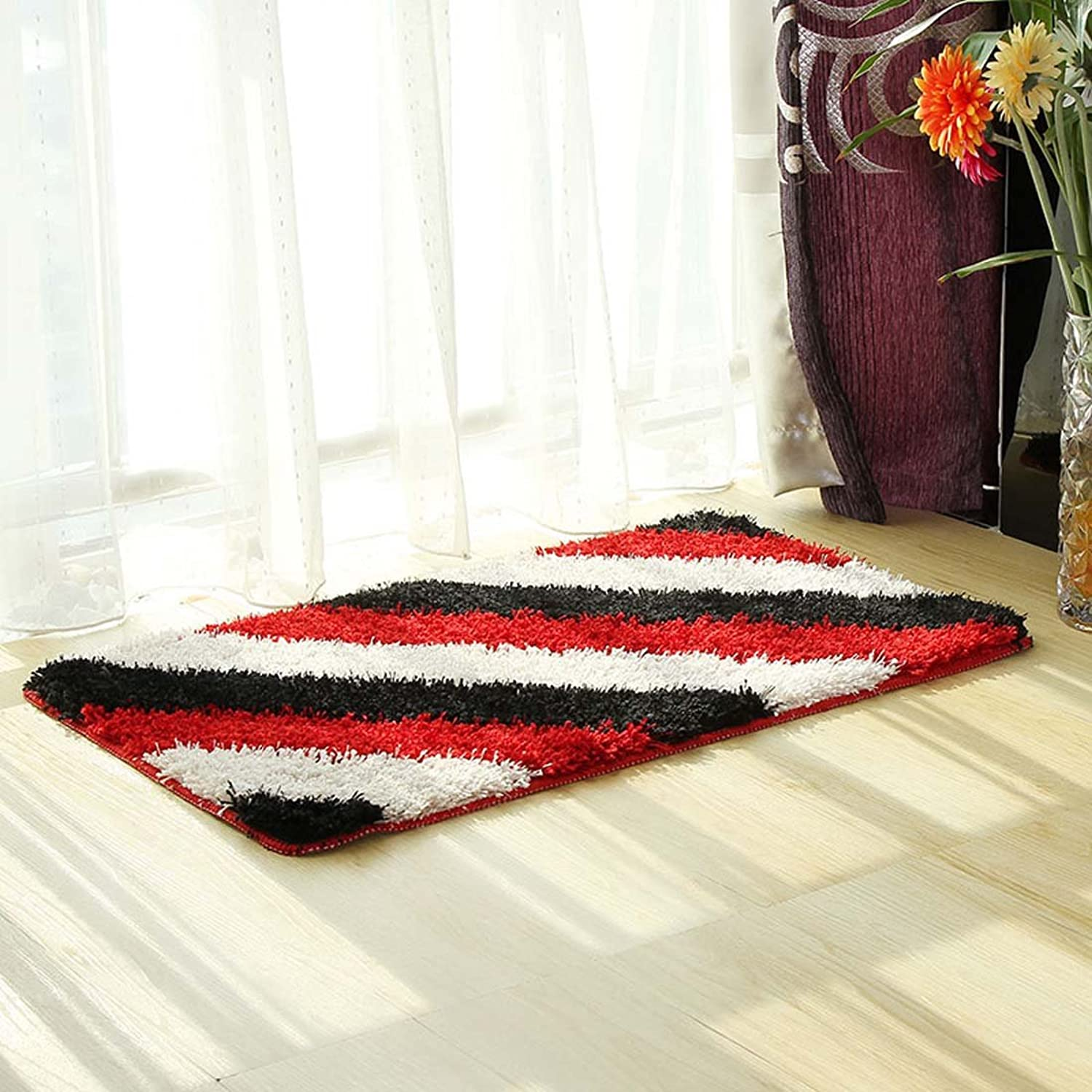 Babe MAPS Indoor Outdoor Doormat Entrance Welcome Mat Absorbent Runner Inserts Non Slip Entry Rug Funny Microfiber Stripes Pattern Red Home Decor for Inside shoes Scraper Floor Carpet 23 x35