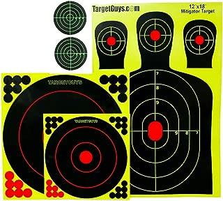 Splatter Targets -Range Pack - (25 Targets) 12x18 inch Silhouettes, Adhesive Splatter Targets 12x12 inch, 8x8 inch, 3x3 inch, Shooting Targets -Gun-Rifle-Pistol-Airsoft