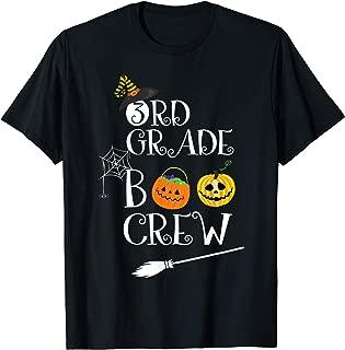 3rd Grade BOO CREW Teacher Student Halloween Costume T-Shirt