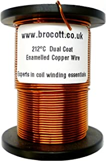 Alambre de cobre esmaltado con doble capa de poliéster imán de 0,50 mm, 500 gramos