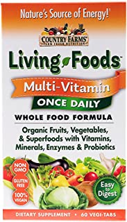 Country Farms Livings Foods Multi-Vitamin Once Daily Wholefood Formula with Orgainic Fruits and Vegetables