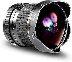 Neewer 8mm f/3.5-22 Manual Focus Aspherical HD Fisheye Lens for Canon EOS 80D, 77D, 70D, 60D, 60Da, 50D, 7D, T7i, T7s, T7, T6s, T6i, T6, T5i, T5, SL2 and SL1 Digital SLR Cameras
