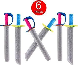 """Super Z Outlet 16"""" Foam Prince Sword Toy Set Party Supplies (6 Swords)"""