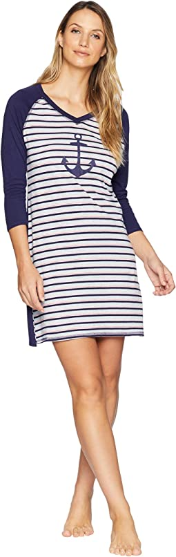 Anchor Stripe Sleepshirt
