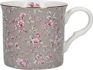 "Katie Alice ""ditsy Floral"" Fine Bone China Grey Mug By Creative Tops, 230ml (8"