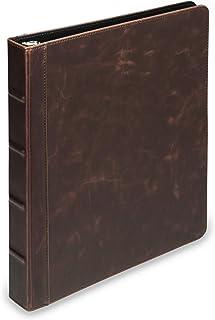 Samsill Vintage Hardback Book Binder/Professional Binder Organizer/Planner Binder / 1 Inch 3 Ring Binder/Dark Brown (No Zipper, Letter Size)