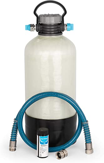 Camco TastePURE Portable Water Softener   Helps Reduce The Hardness of Your RV or Boat's Water   Features a Compact Design (40655)