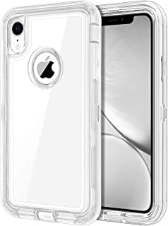JAKPAK Case for iPhone XR Case Clear Transparent Heavy Duty Protection for iPhone XR Case Shockproof Anti Scratch Cover with Dual Layer PC Bumper TPU Back Case for iPhone XR 10R 6.1inches Transparent