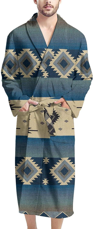 doginthehole Men's Super Soft Kimono Robe Bathrobes Long Loungewear Knee-Length Sleepwear Casual Home Pajamas