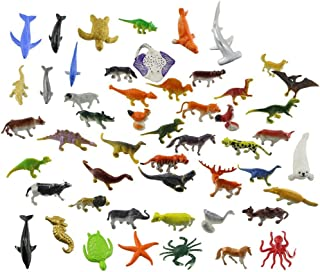 Animals Figure 54 Pc Mini Jungle Toy Set Wild Vinyl Plastic Learning Party Play